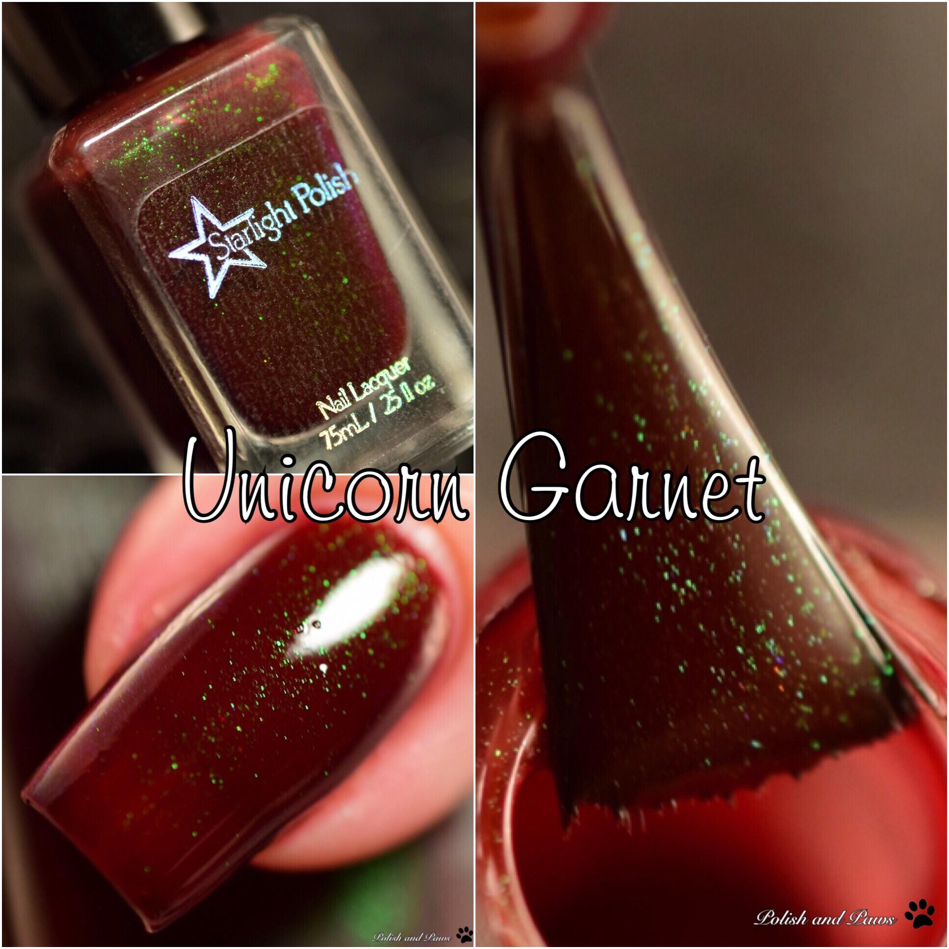 Starlight Polish Unicorn Garnet