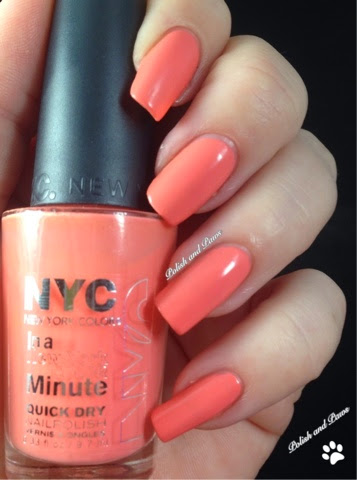 New York Color (NYC) Peaches n\' Cream | Polish and Paws