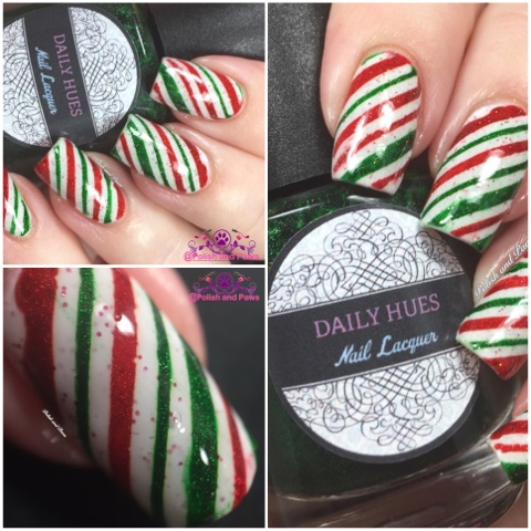 Nail art candy cane nails polish and paws nail art candy cane nails prinsesfo Choice Image