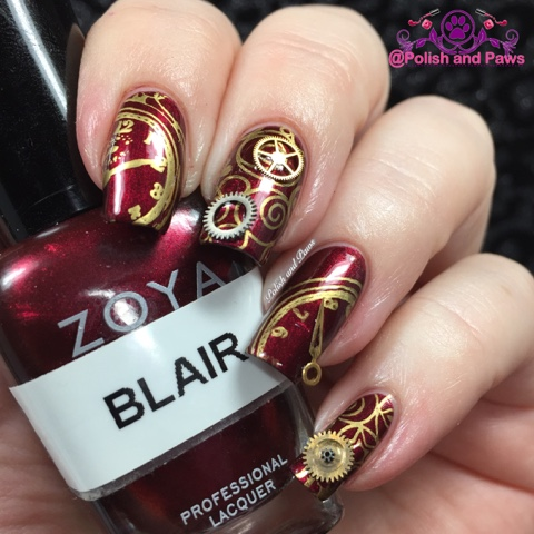 Nail Art Challenge January Clairestelle8jan Polish And Paws