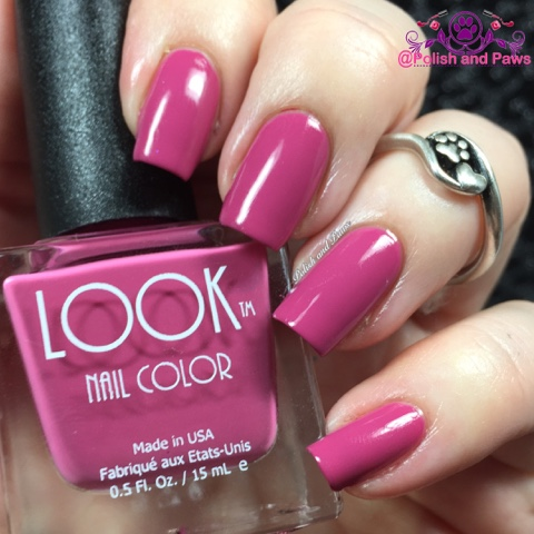 A Fuchsia Creme Shown Here In 2 Coats With Glossy Top Coat Nearly Opaque 1 Thin Formula Was Smooth And Very Easy To Work