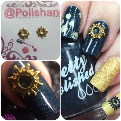 Nail Art: Sun Nail Charms from Honey Bunny Lacquer | Polish and Paws