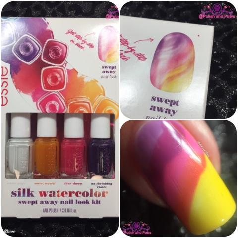 Nail Art: Essie Silk Watercolor Mini Art Kit | Polish and Paws