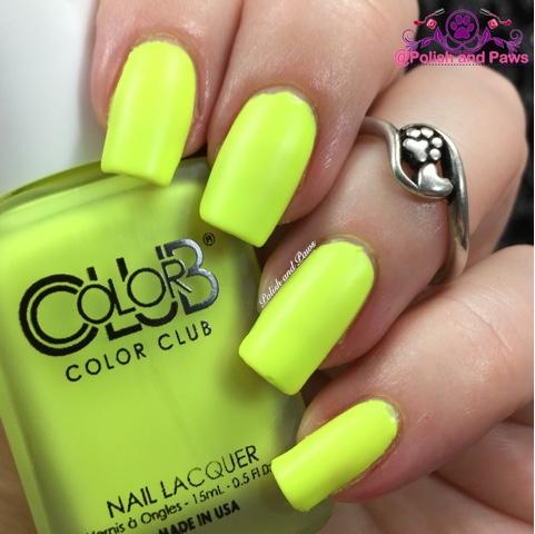 Matte Neon Yellow Nail Polish Hession Hairdressing