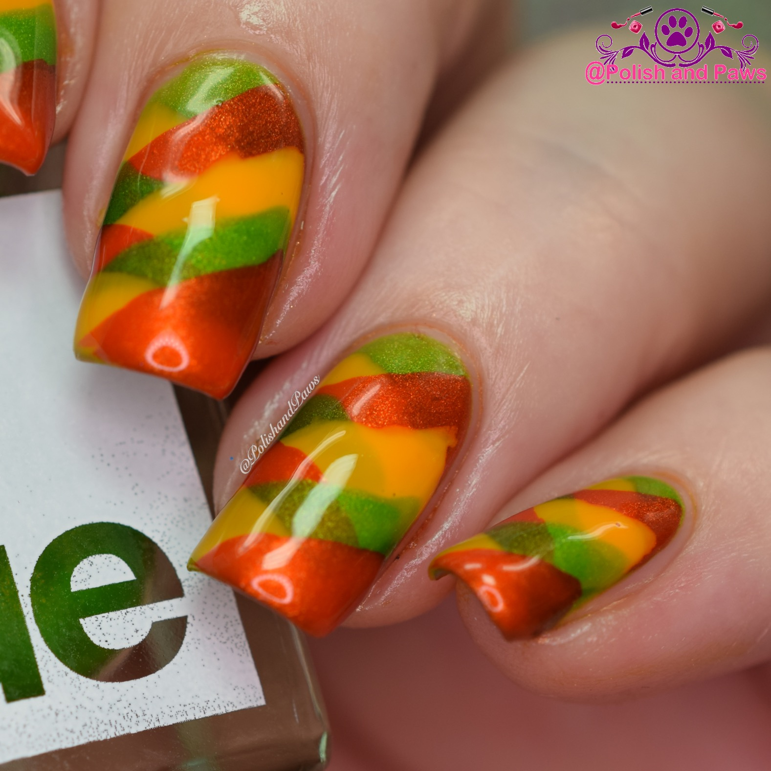 Square Hue Braided Nails