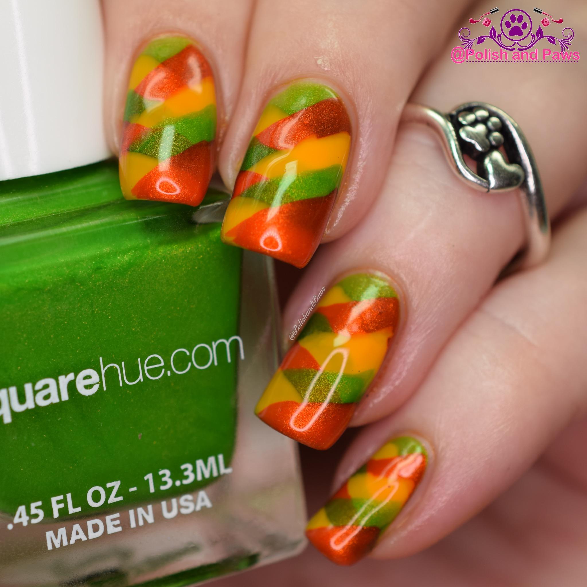 Square Hue Nail Art