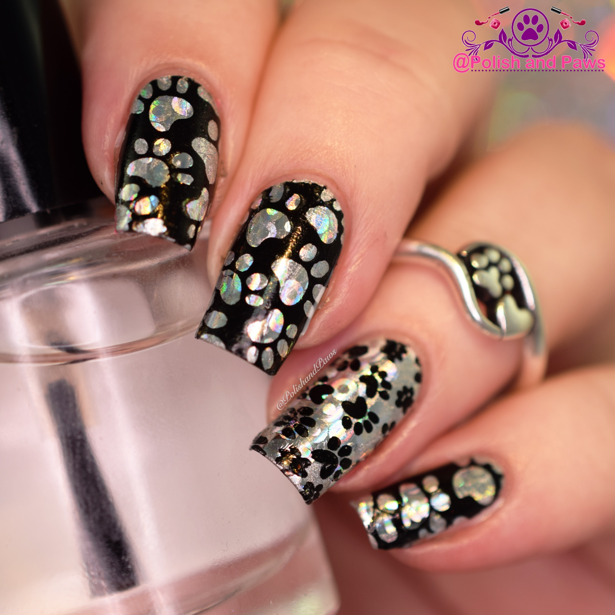 nail foils with stamping