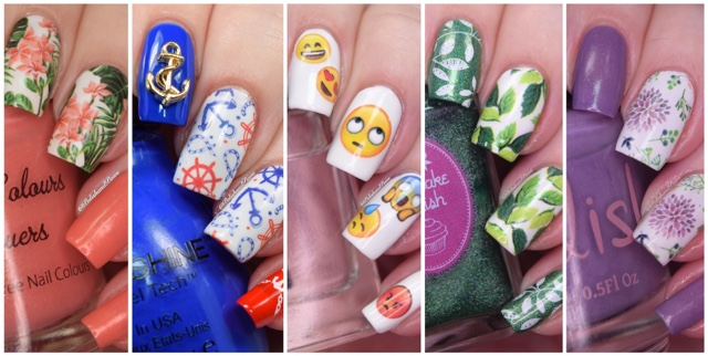 Nail Art ~ Nicole Diary Water Decals | Polish and Paws