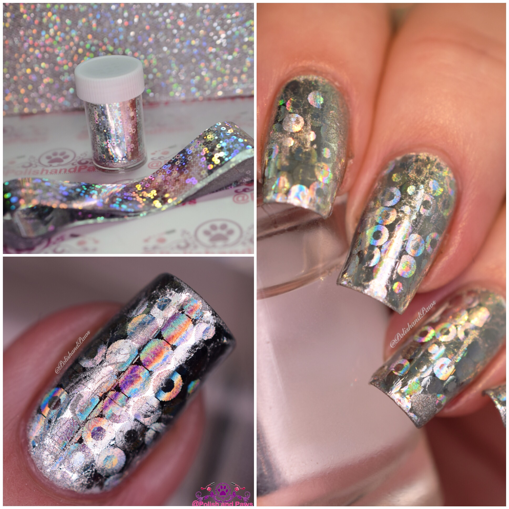 Born Pretty Store ~ Nail Foil Review | Polish and Paws