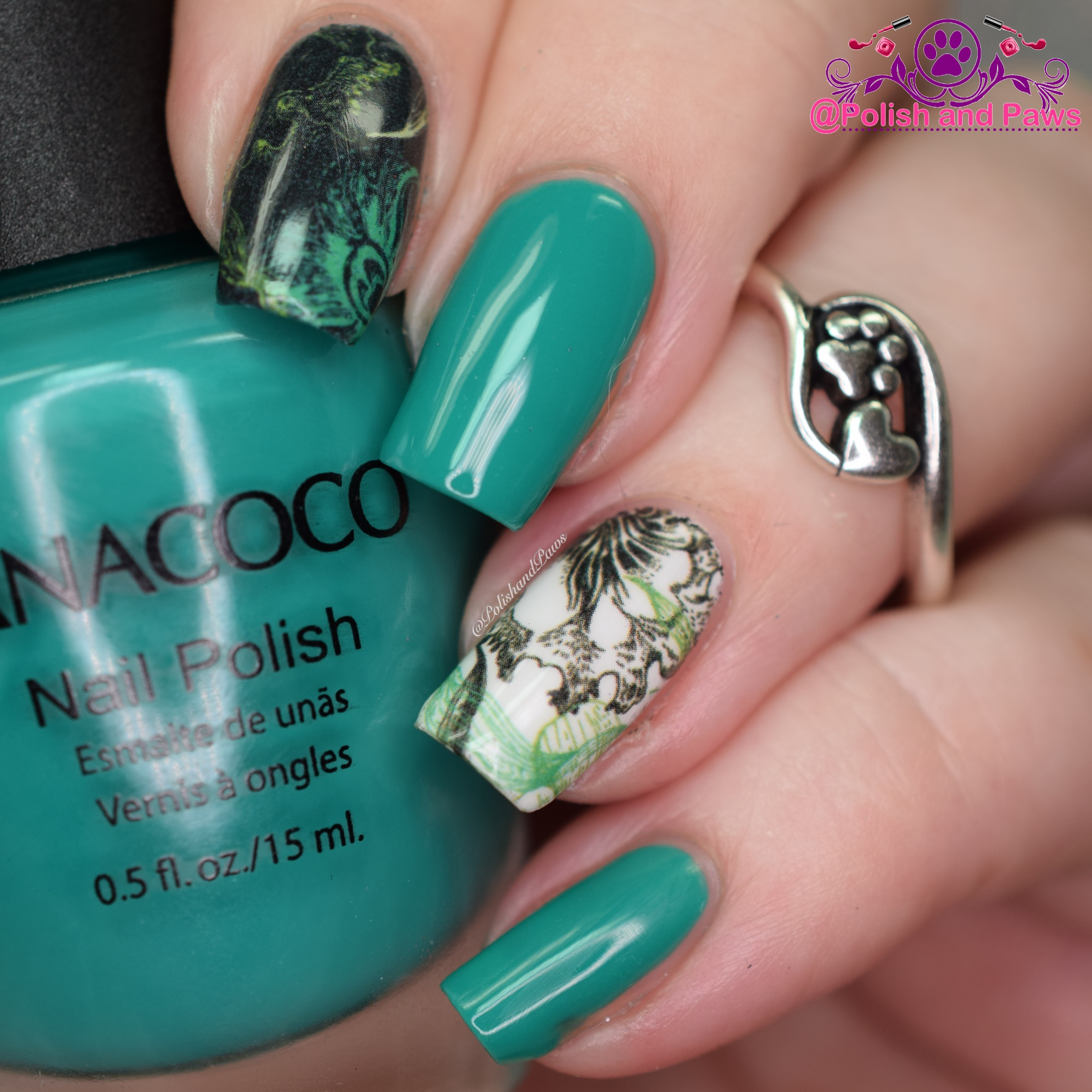 Nail Art ~ Nicole Diary Water Decals ~ Review | Polish and Paws