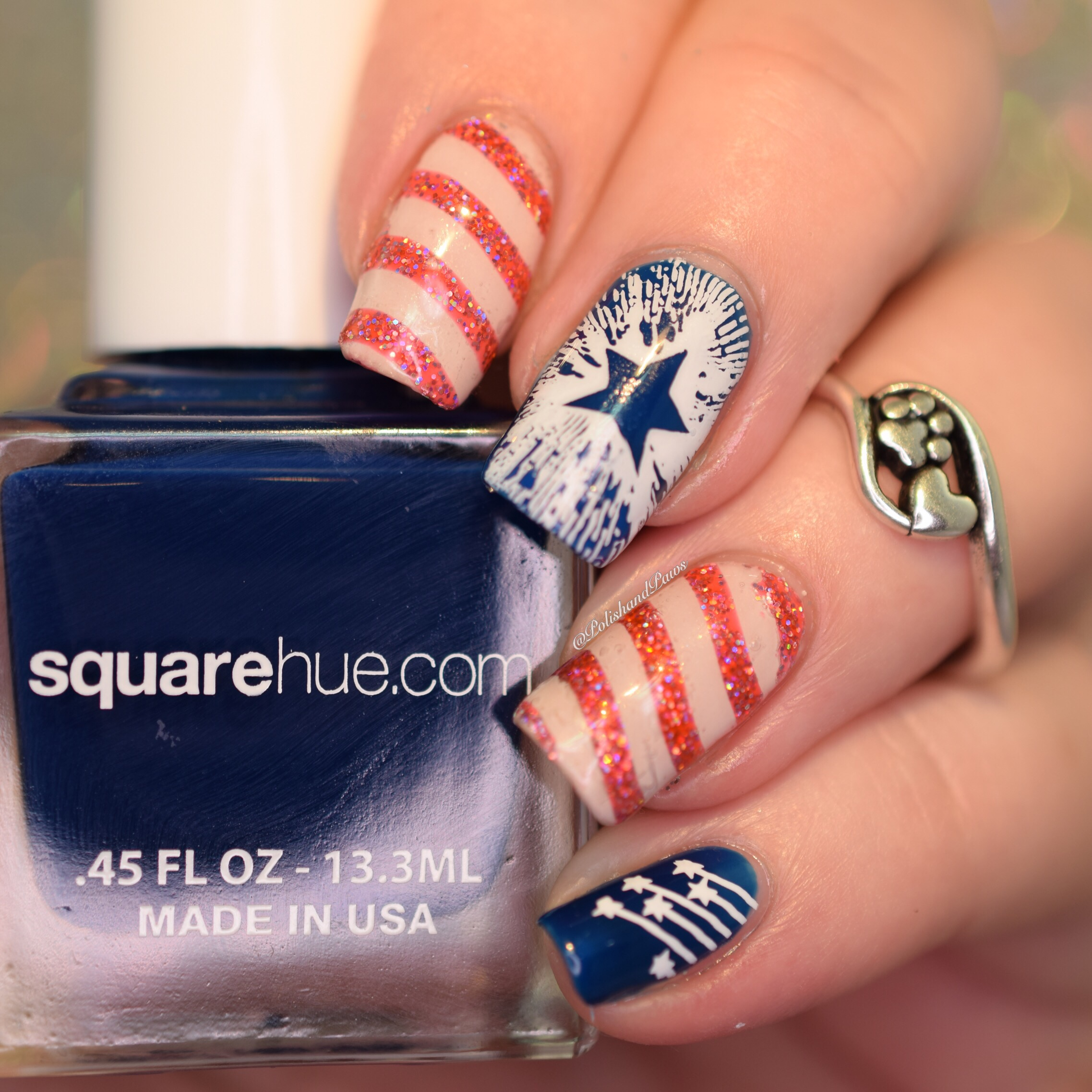 Square Hue Box Nail Art