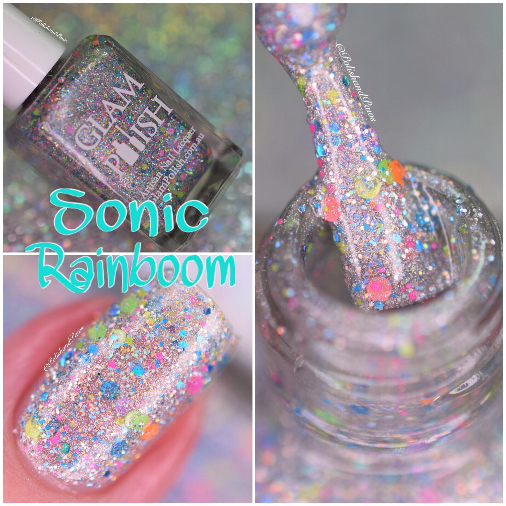 Glam Polish Sonic Rainboom collage