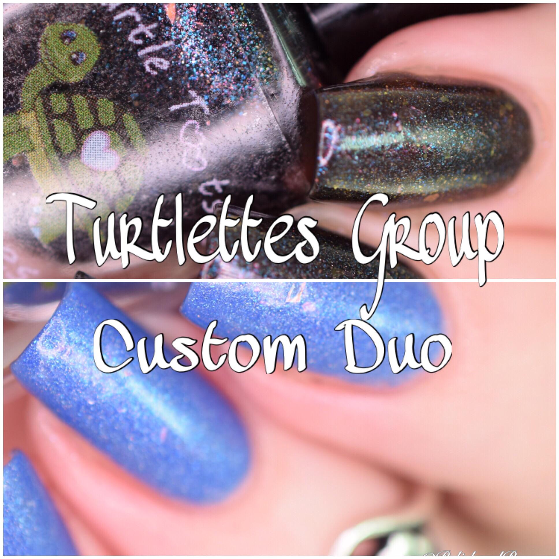 Turtle Tootsie Polishes Group Custom Duo
