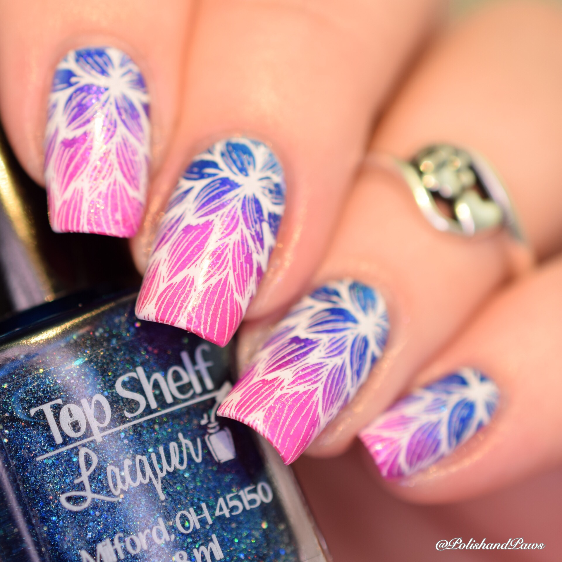 Nail Art ~ Top Shelf Lacquer Gradient | Polish and Paws