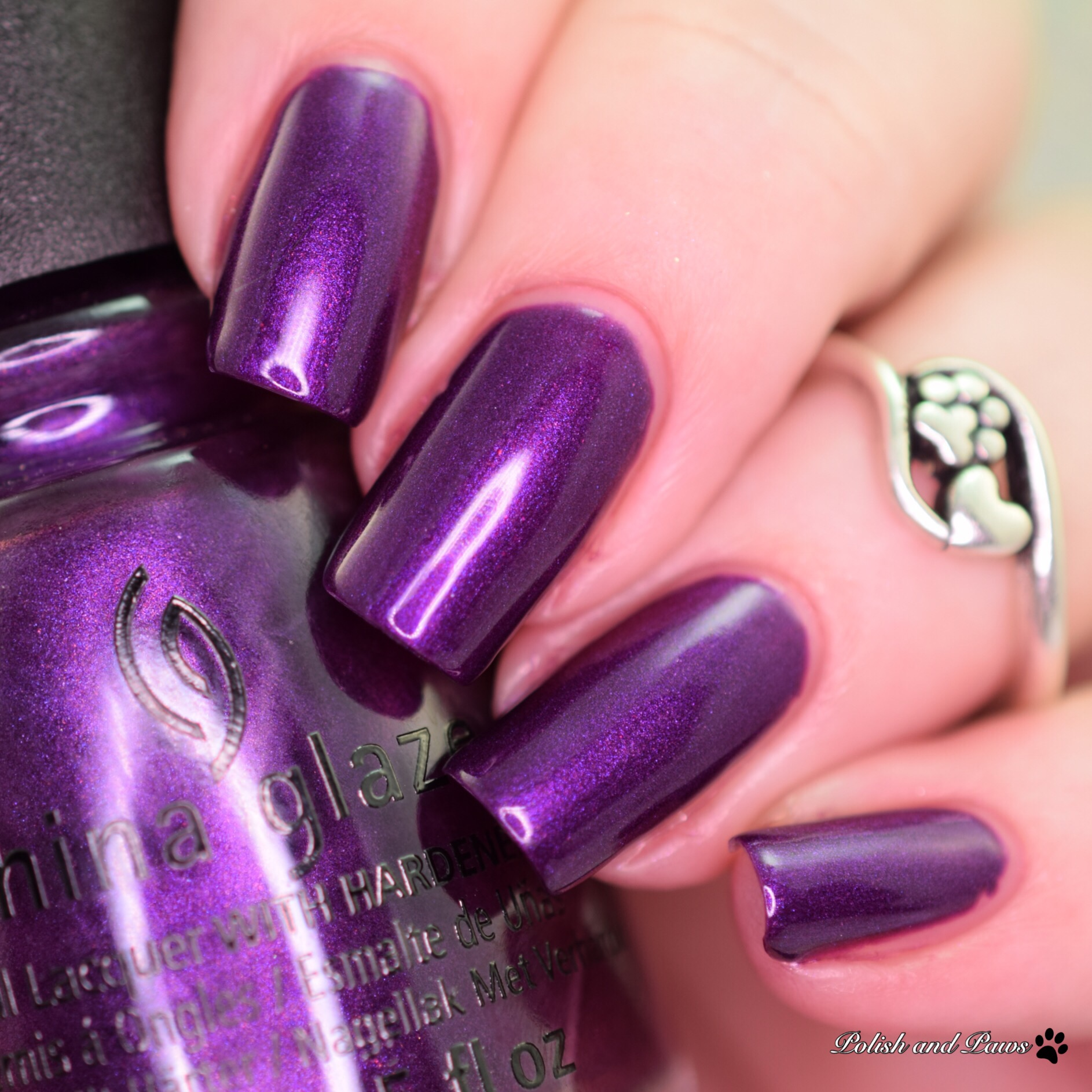 China Glaze Purple Fiction