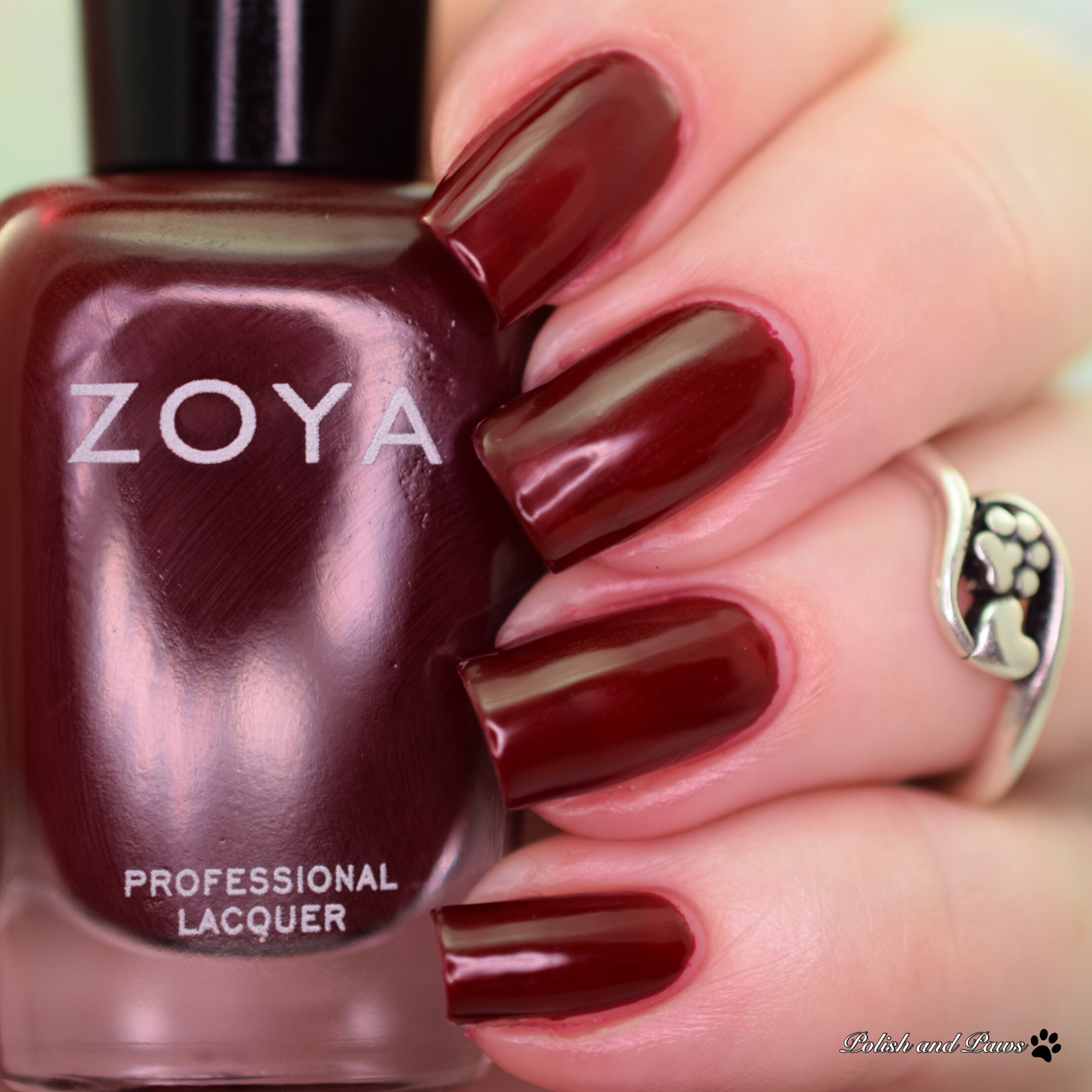 Zoya Tara Is Described As A Purple Plum With Balanced Tone Between Red And This Color Absolutely Stunning Shown One Coat Glossy