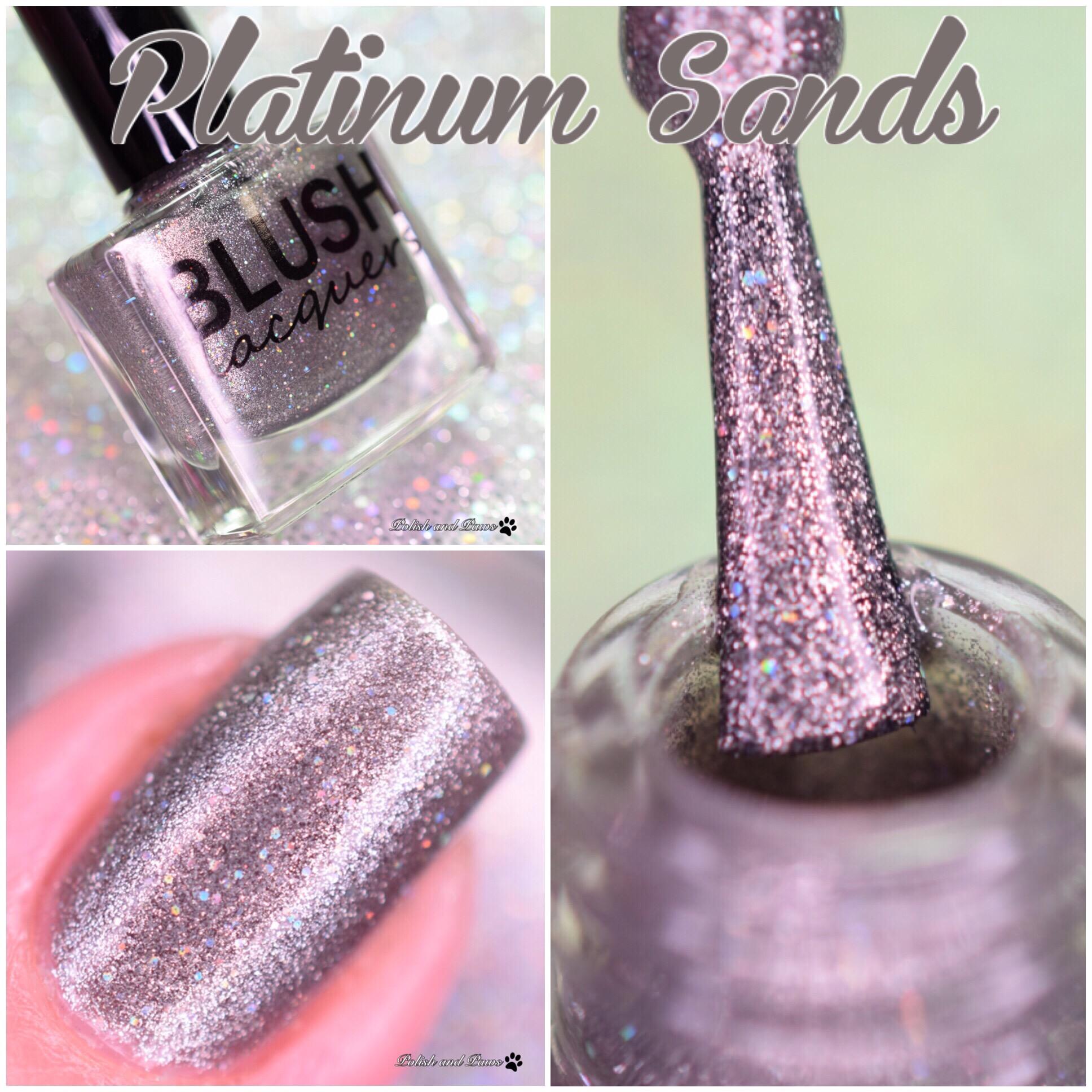 Blush Lacquers Platinum Sands