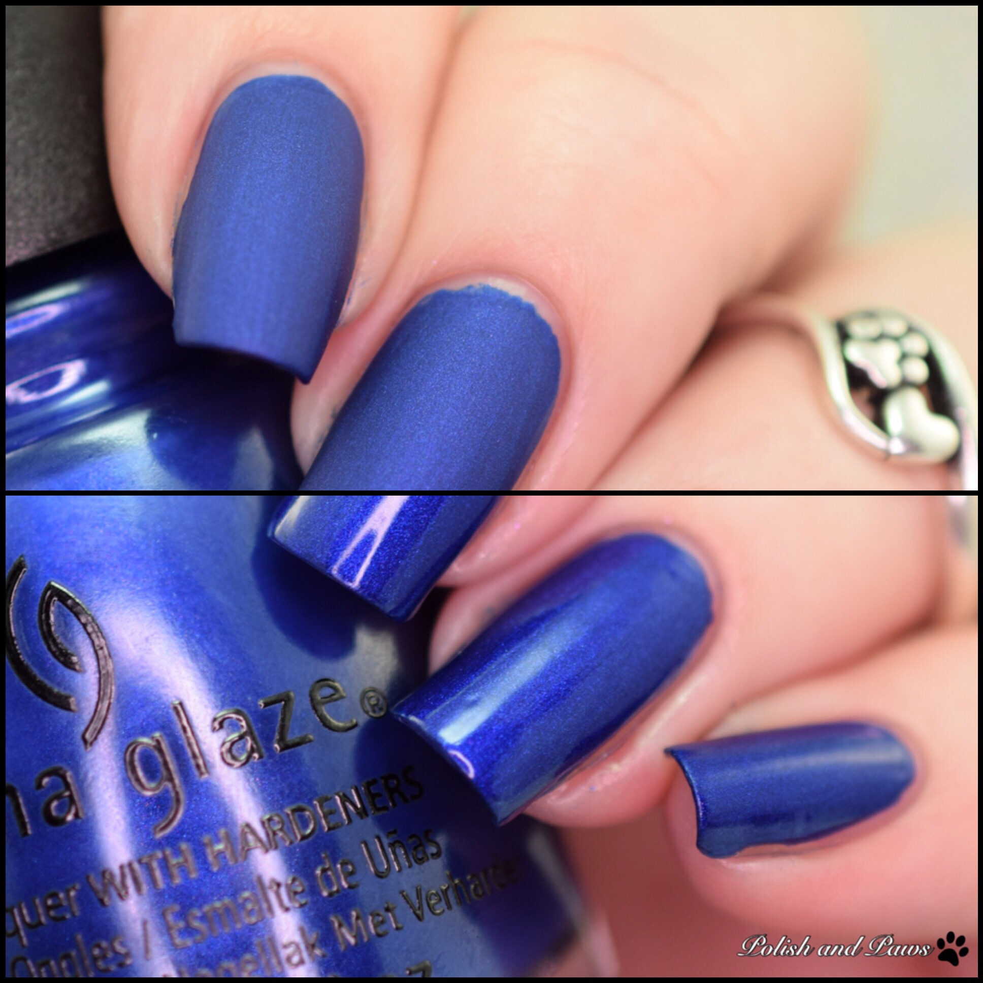 China Glaze Combat Blue Ts Matte