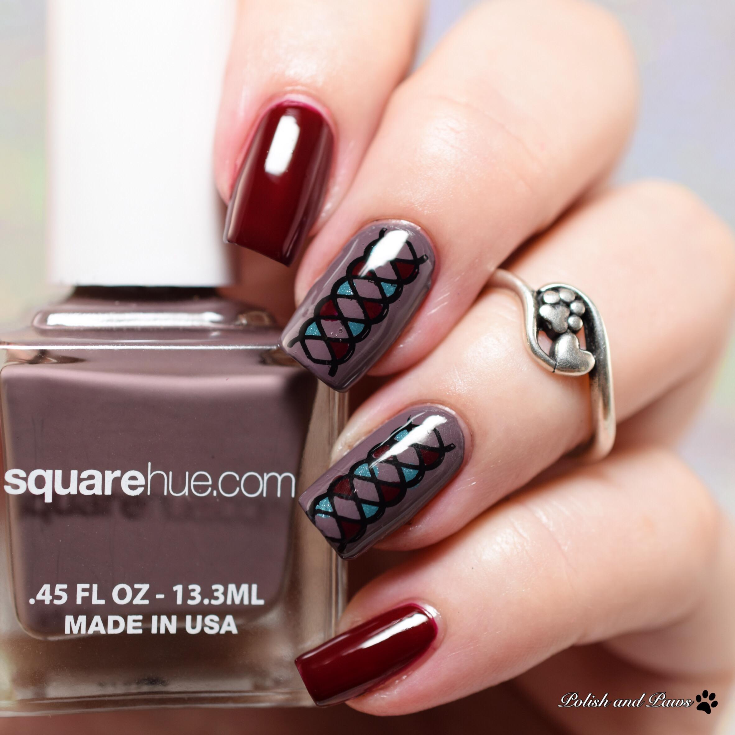 Square Hue Gondola Venice Nail Art