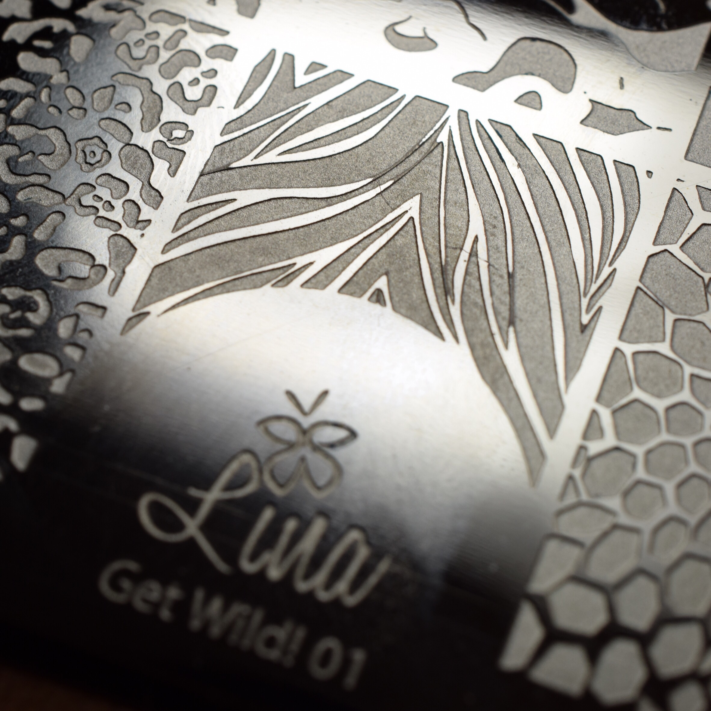 Lina Stamping Plate Get Wild 01
