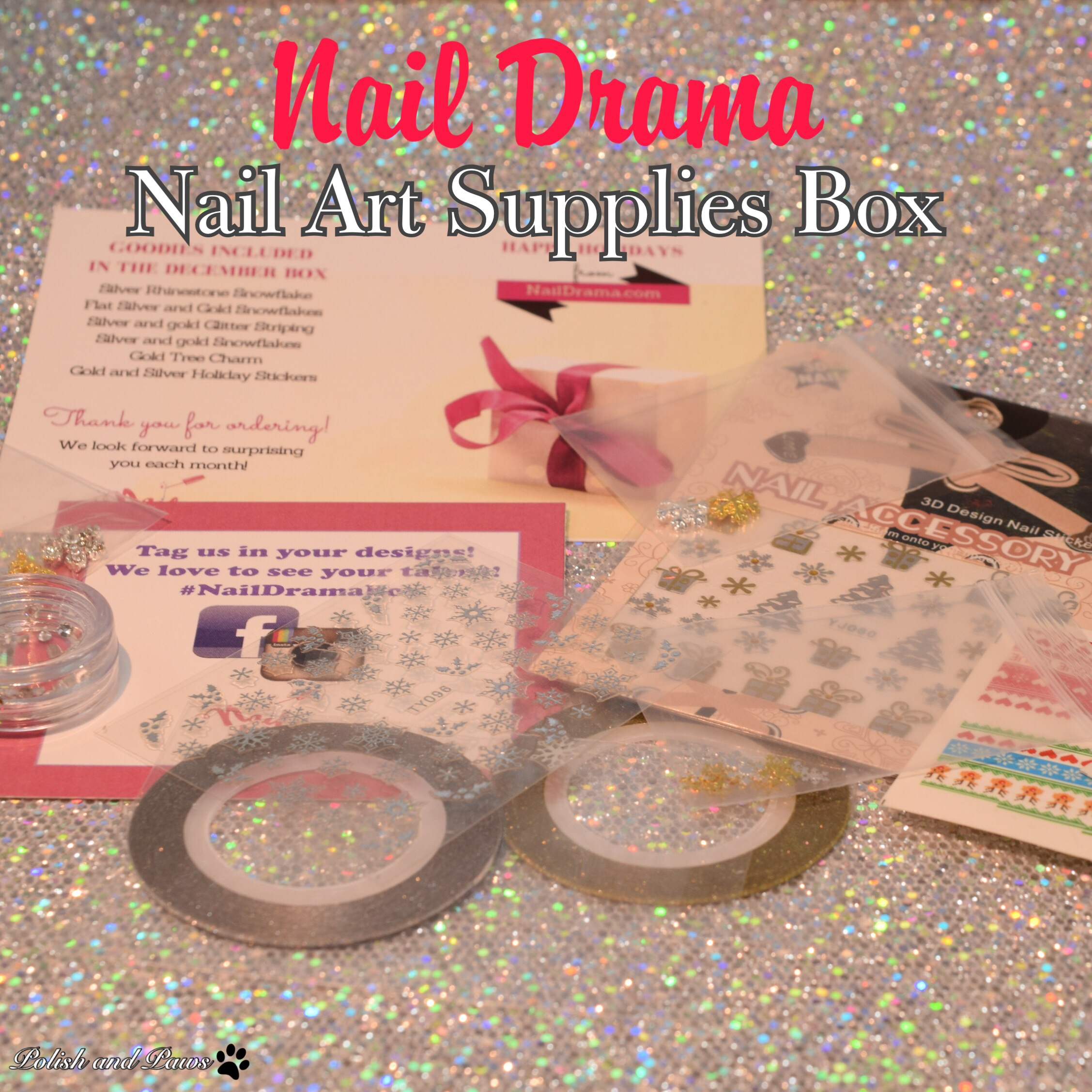 Nail Drama Nail Art Supplies Box