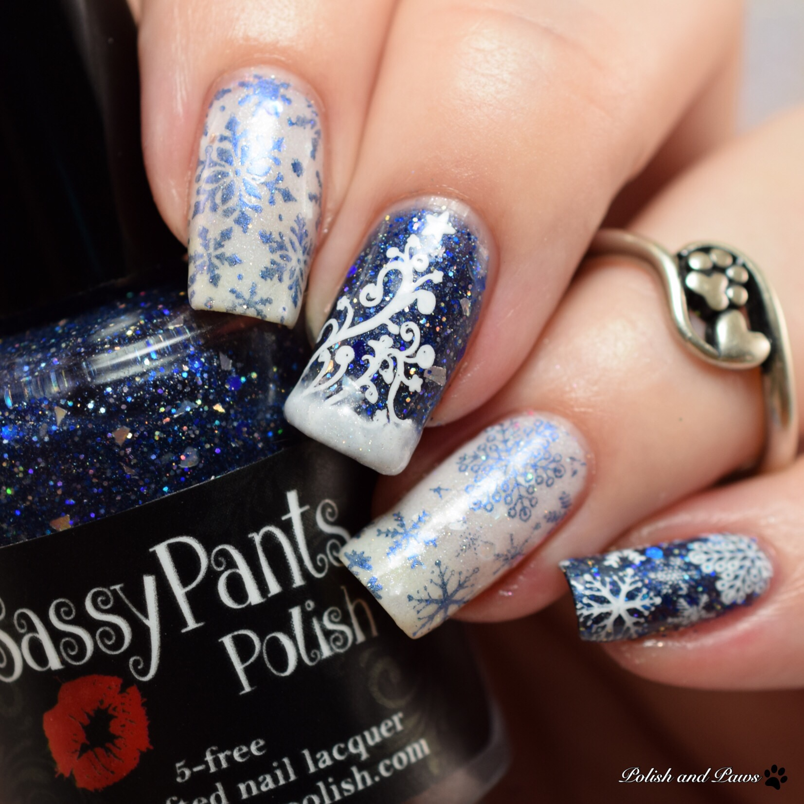 Winter Nail Art ~ Sassy Pants Polish Twas the Night Before Christmas ...