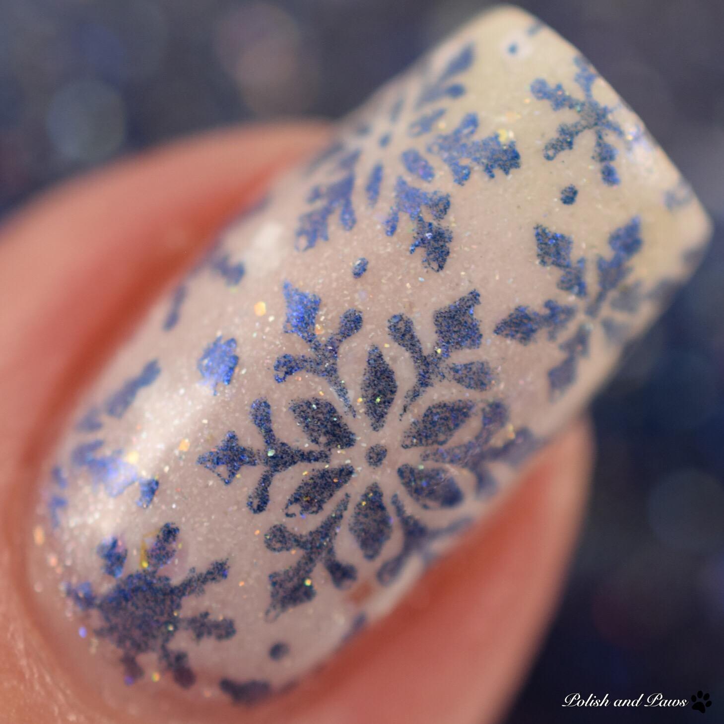Sassy Pants Polish Winter Nail Art Manicure