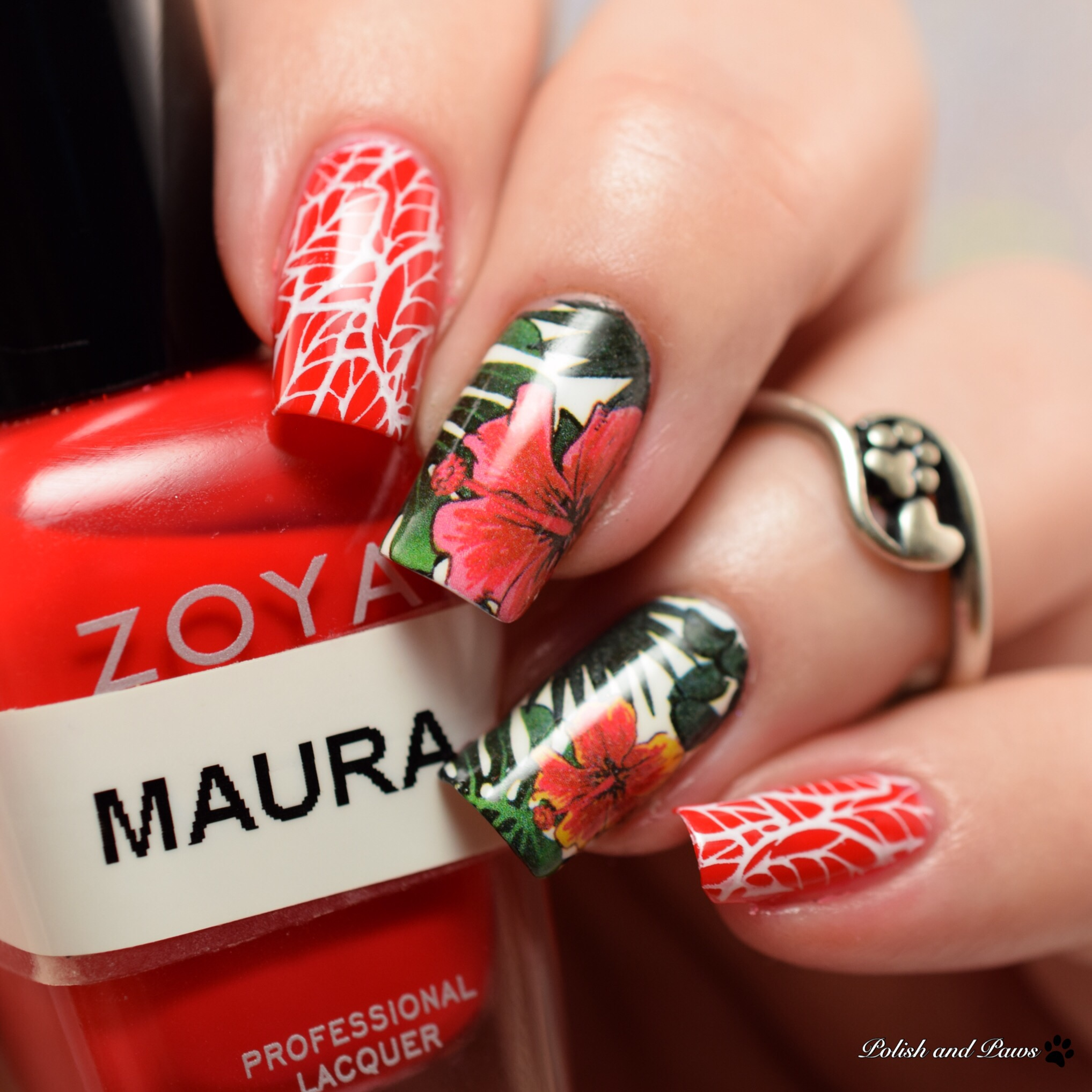 Born Pretty Store BPY32 Water Decals with Zoya Maura