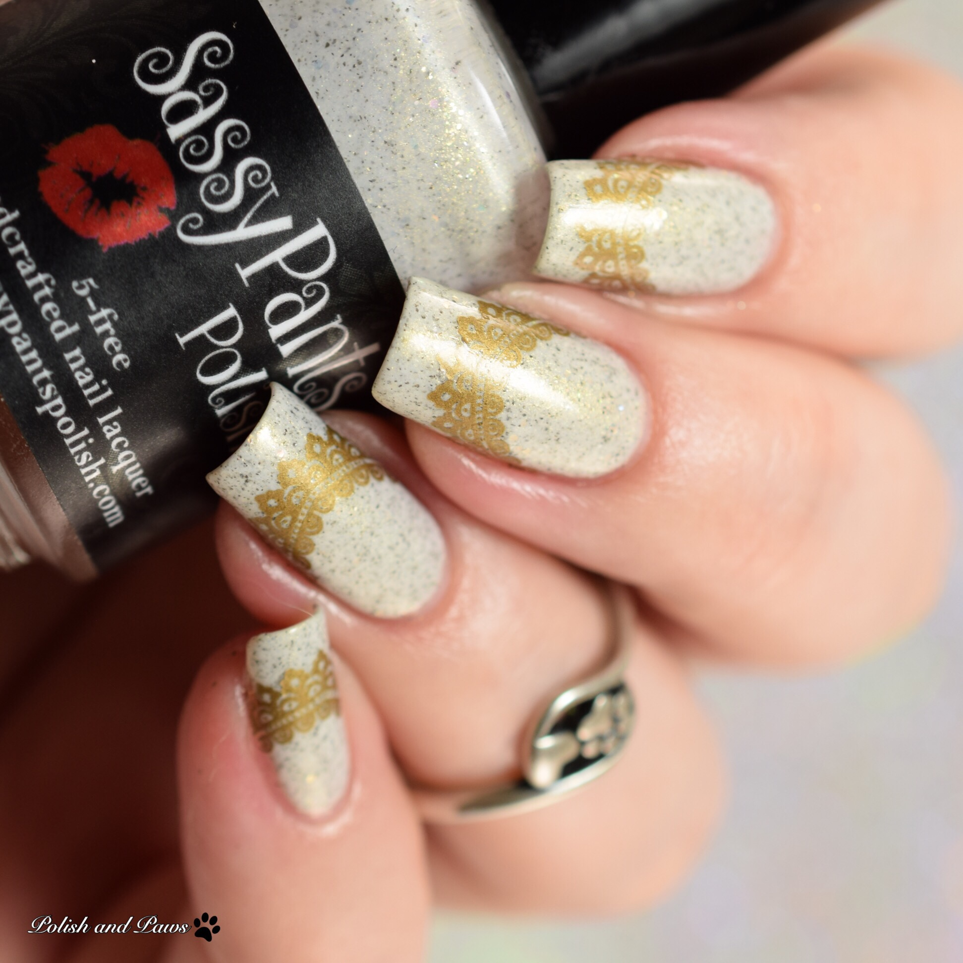 MILV Nail Art Water Decals with Sassy Pants Polish Winter Sunset