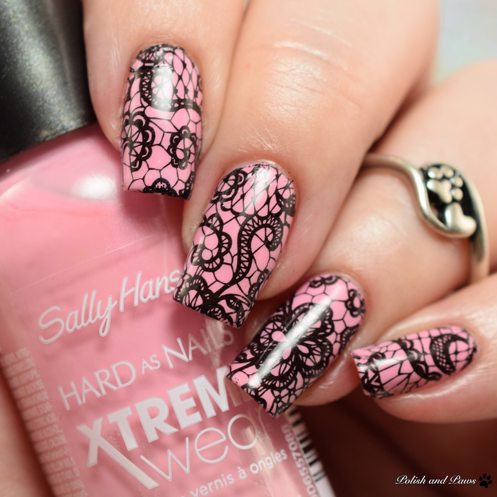 MILV Nail Art Water Decals with Sally Hansen Peach Babe