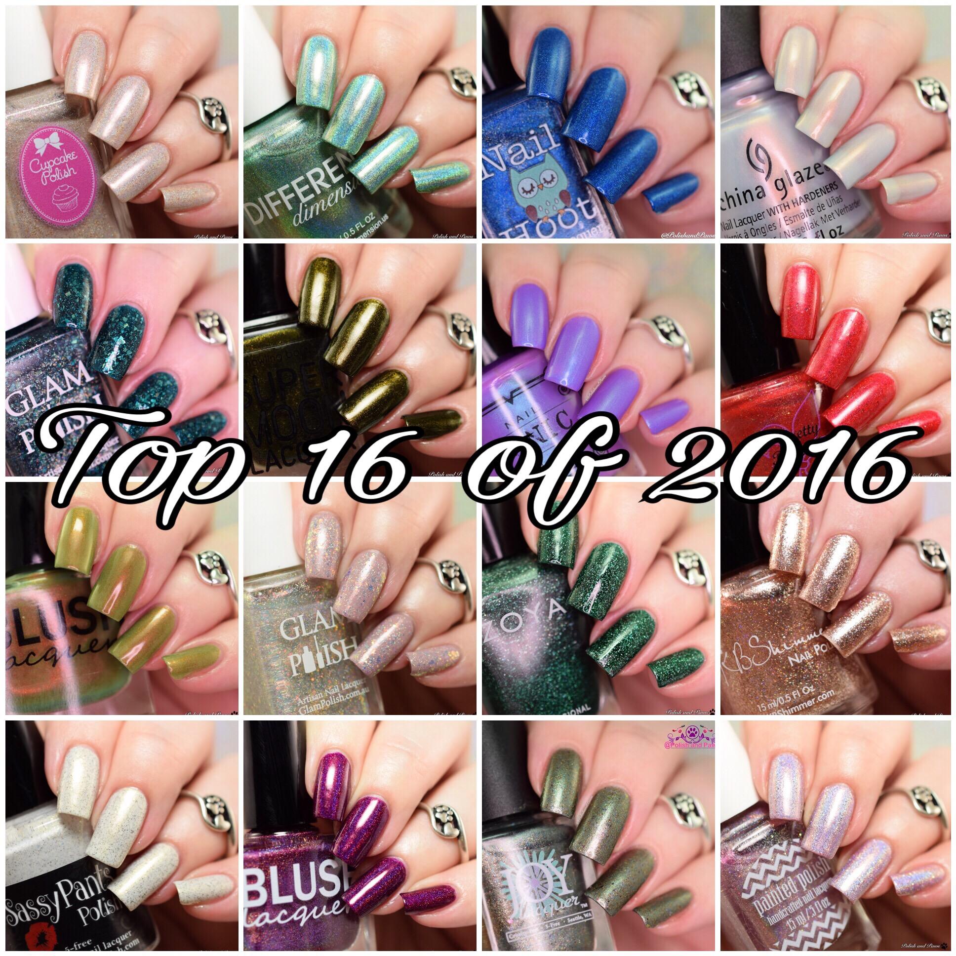 Polish and Paws Blog Top 16 of 2016