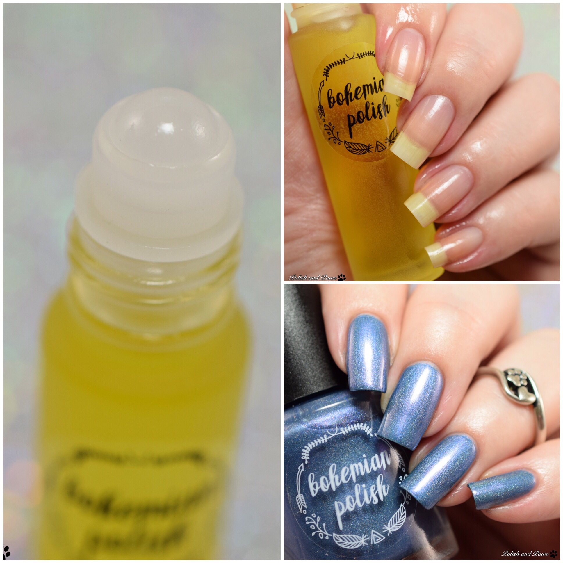 Bohemian Polish Dark Wash and Cuticle Oil | Polish and Paws