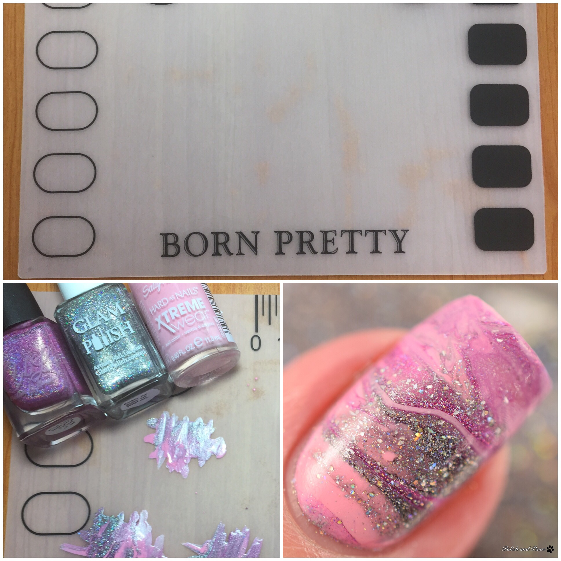 born pretty store small silicone stamping art mat polish and paws. Black Bedroom Furniture Sets. Home Design Ideas