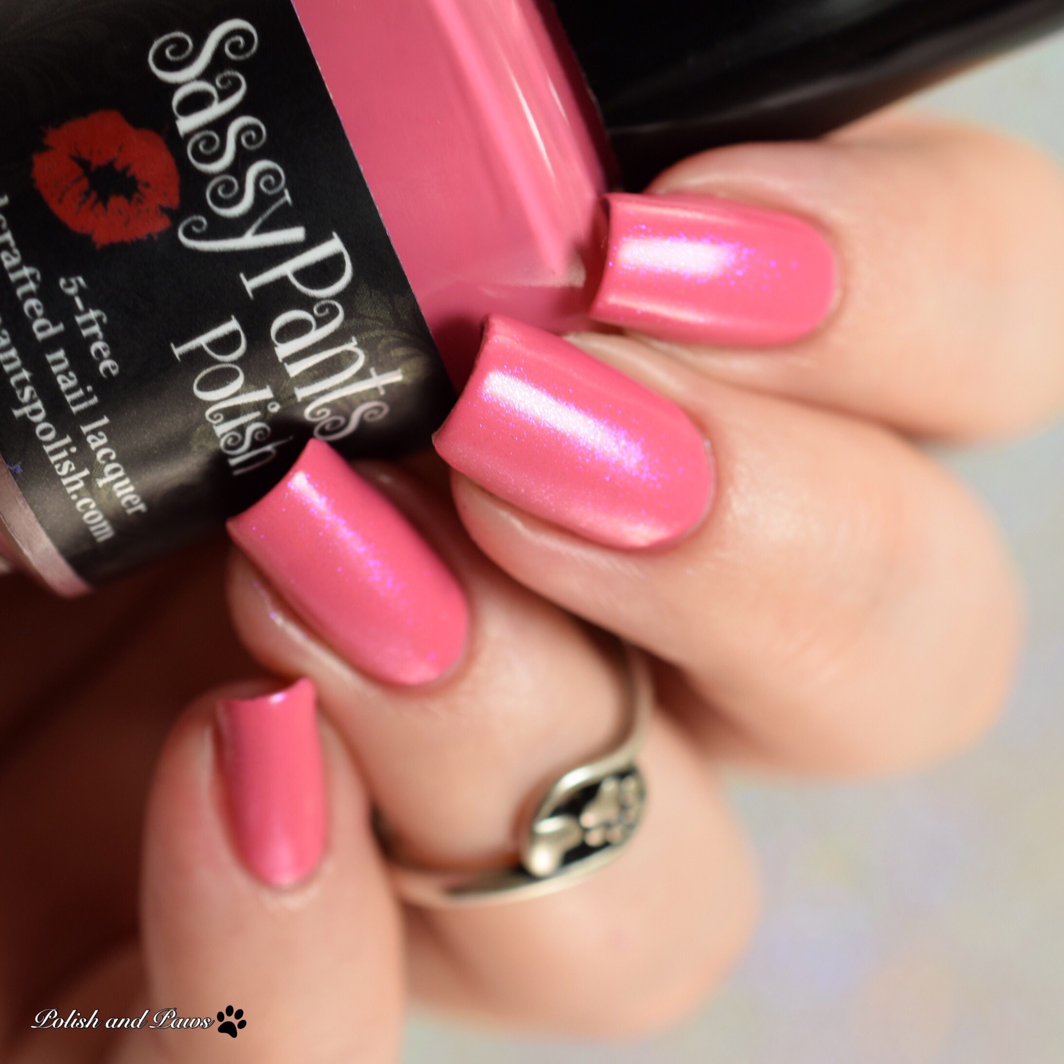 Sassy Pants Polish Forever Yours layered over French Kiss