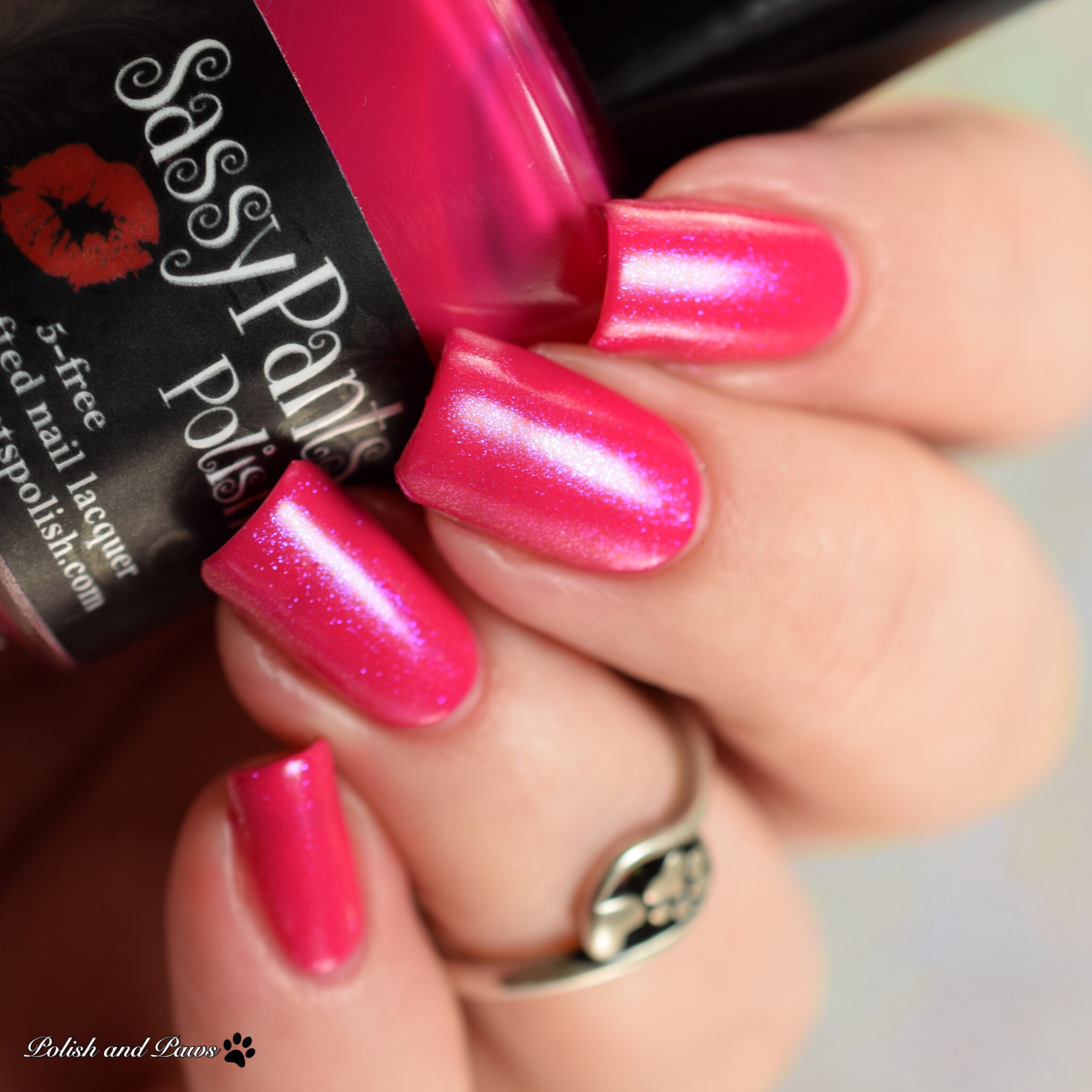 Sassy Pants Polish Forever Yours layered over Kiss Off!