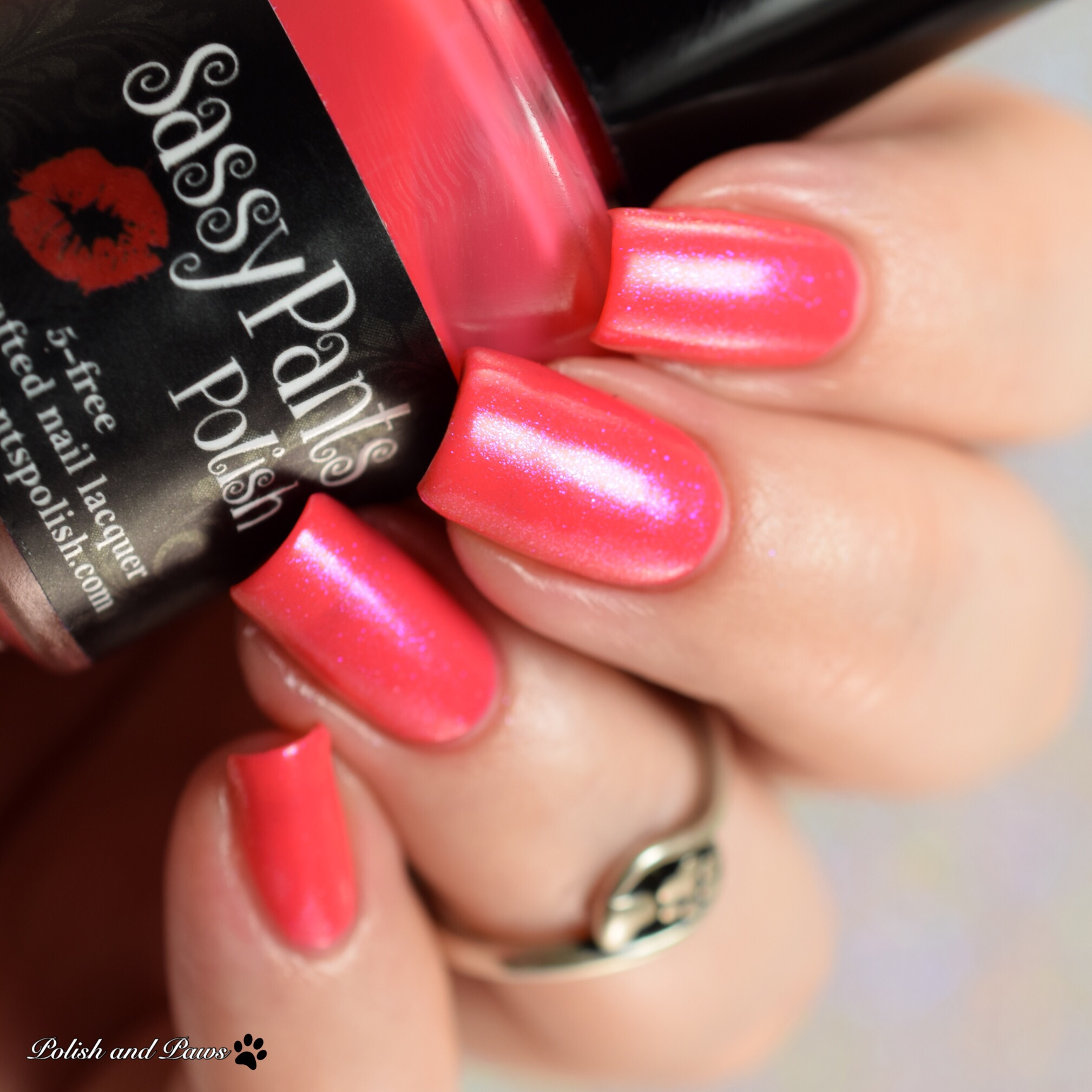 Sassy Pants Polish Forever Yours layered over Kiss Goodbye