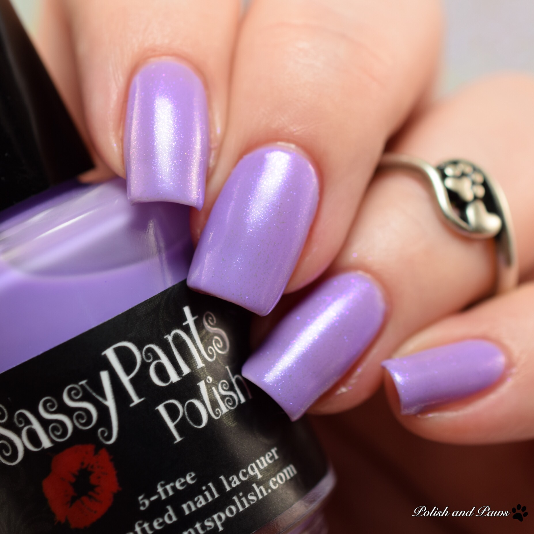 Sassy Pants Polish Forever Yours layered over Blow Me a Kiss