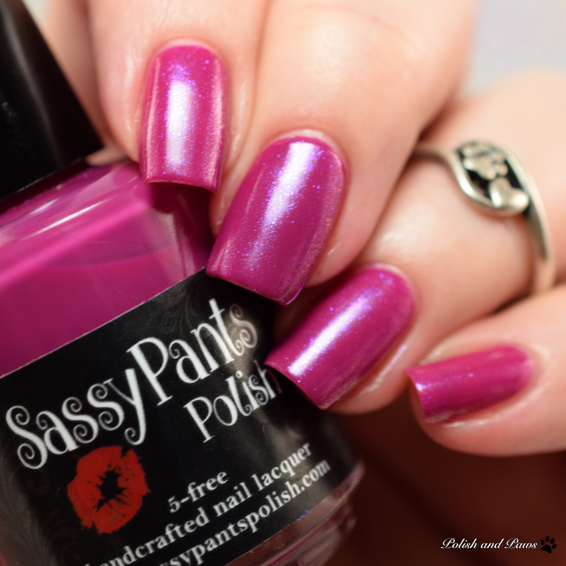 Sassy Pants Polish Forever Yours layered over Kiss & Make Up