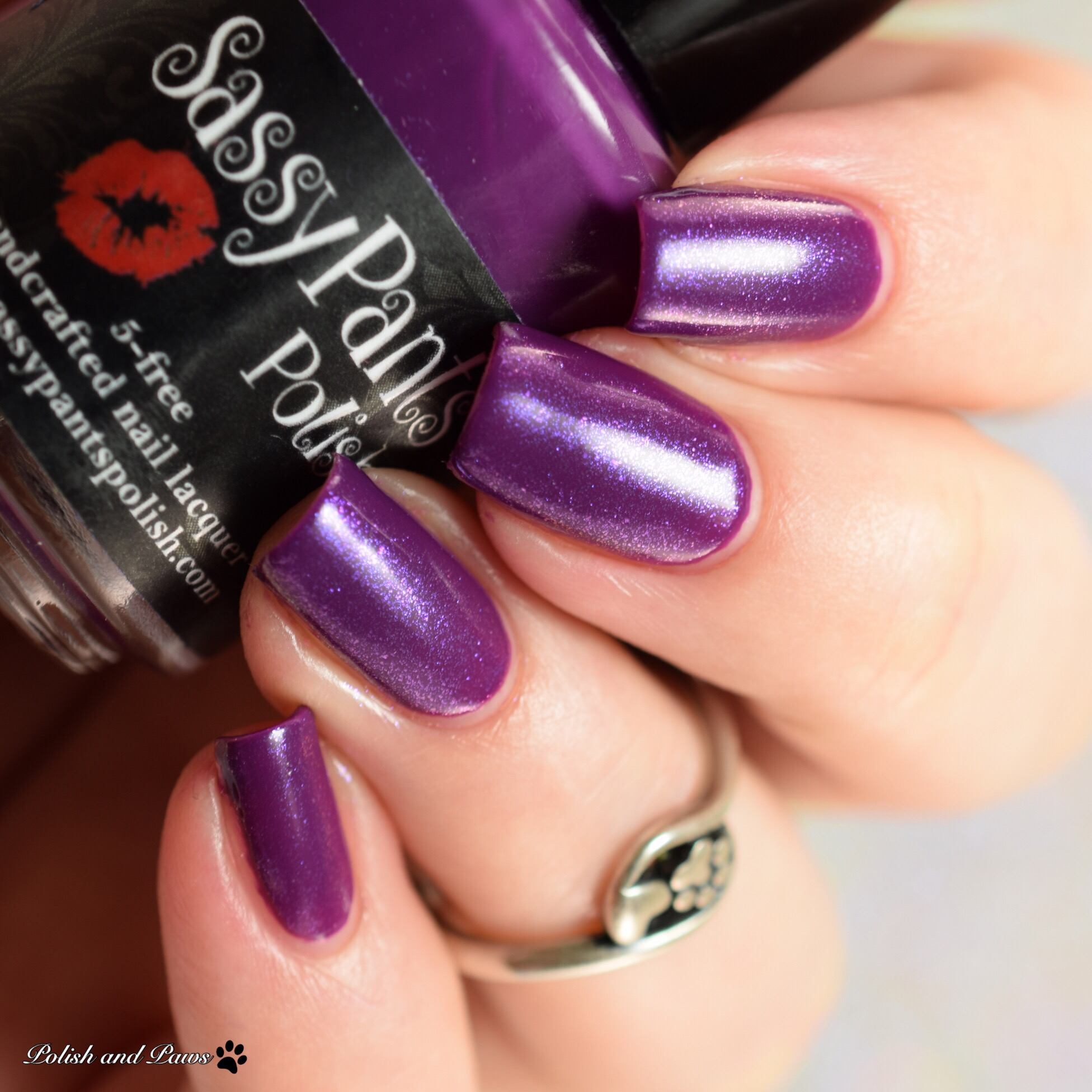 Sassy Pants Polish Forever Yours layered over Kiss & Tell