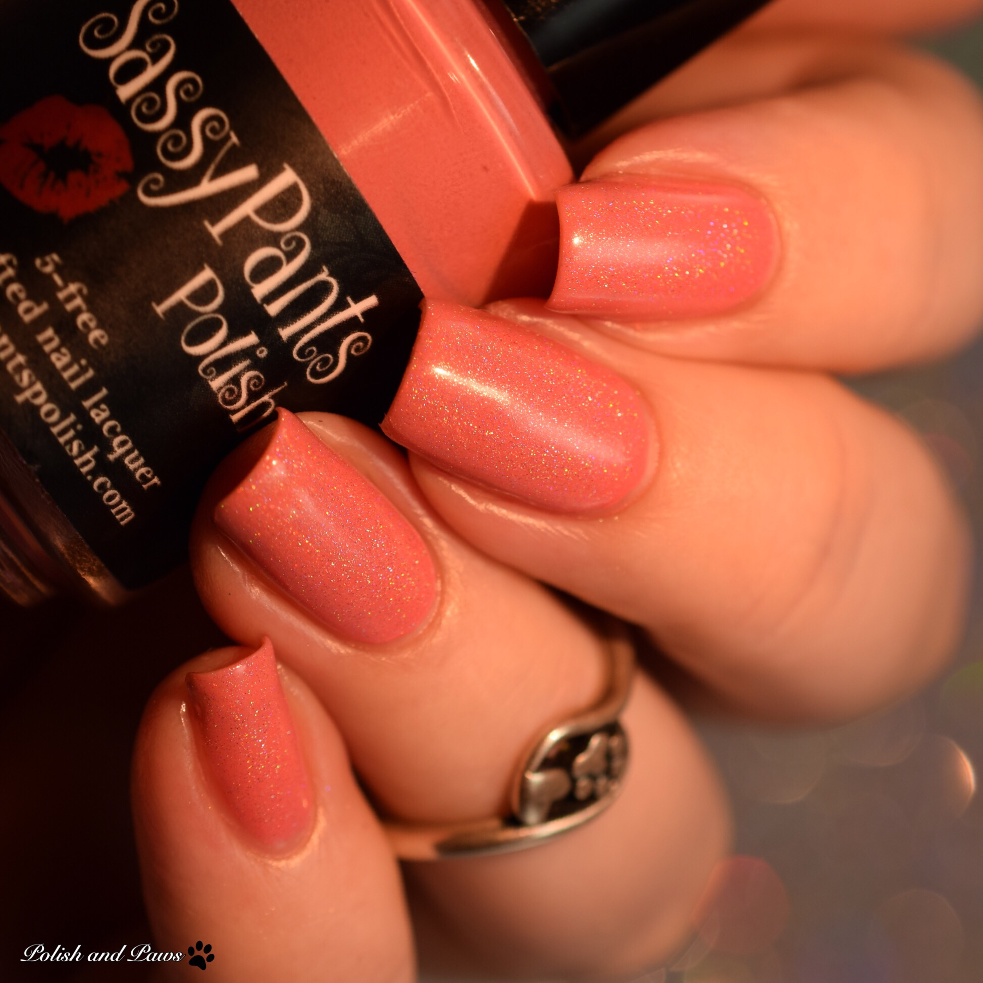 Sassy Pants Polish Love Always layered over French Kiss