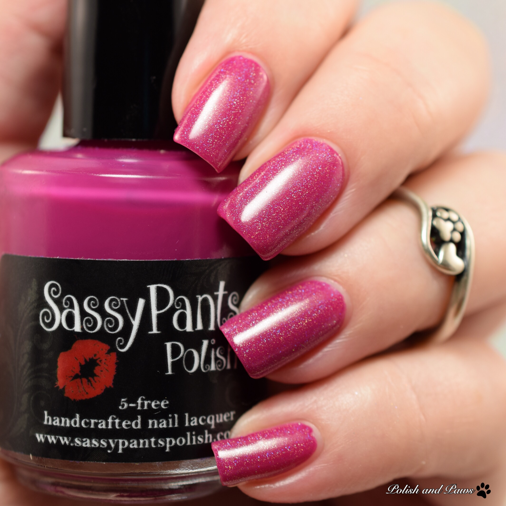 Sassy Pants Polish Love Always layered over Kiss & Make Up