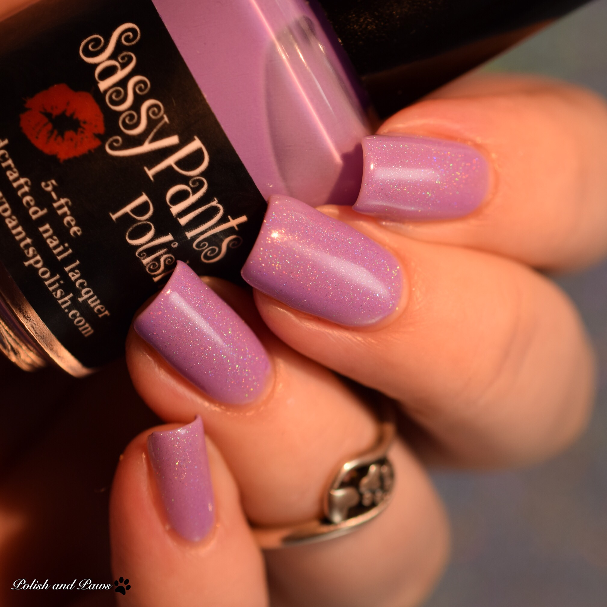 Sassy Pants Polish Love Always layered over Blow Me a Kiss