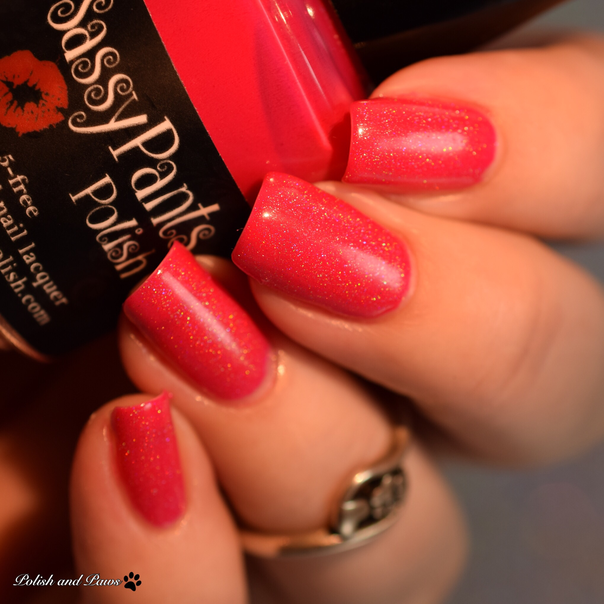 Sassy Pants Polish Love Always layered over Kiss Off!