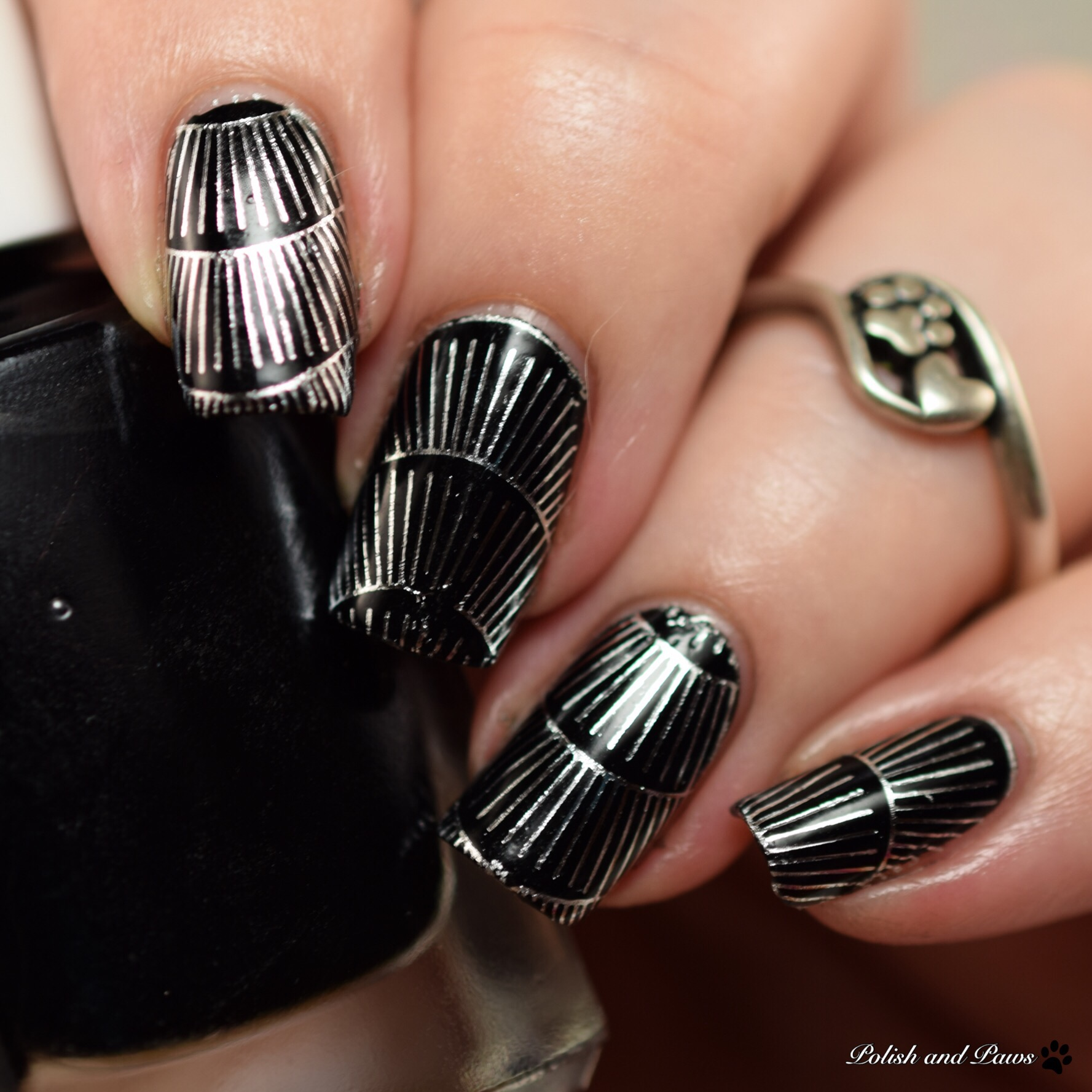 Milv Nail Art Silver Wave Water Decals (F 078)