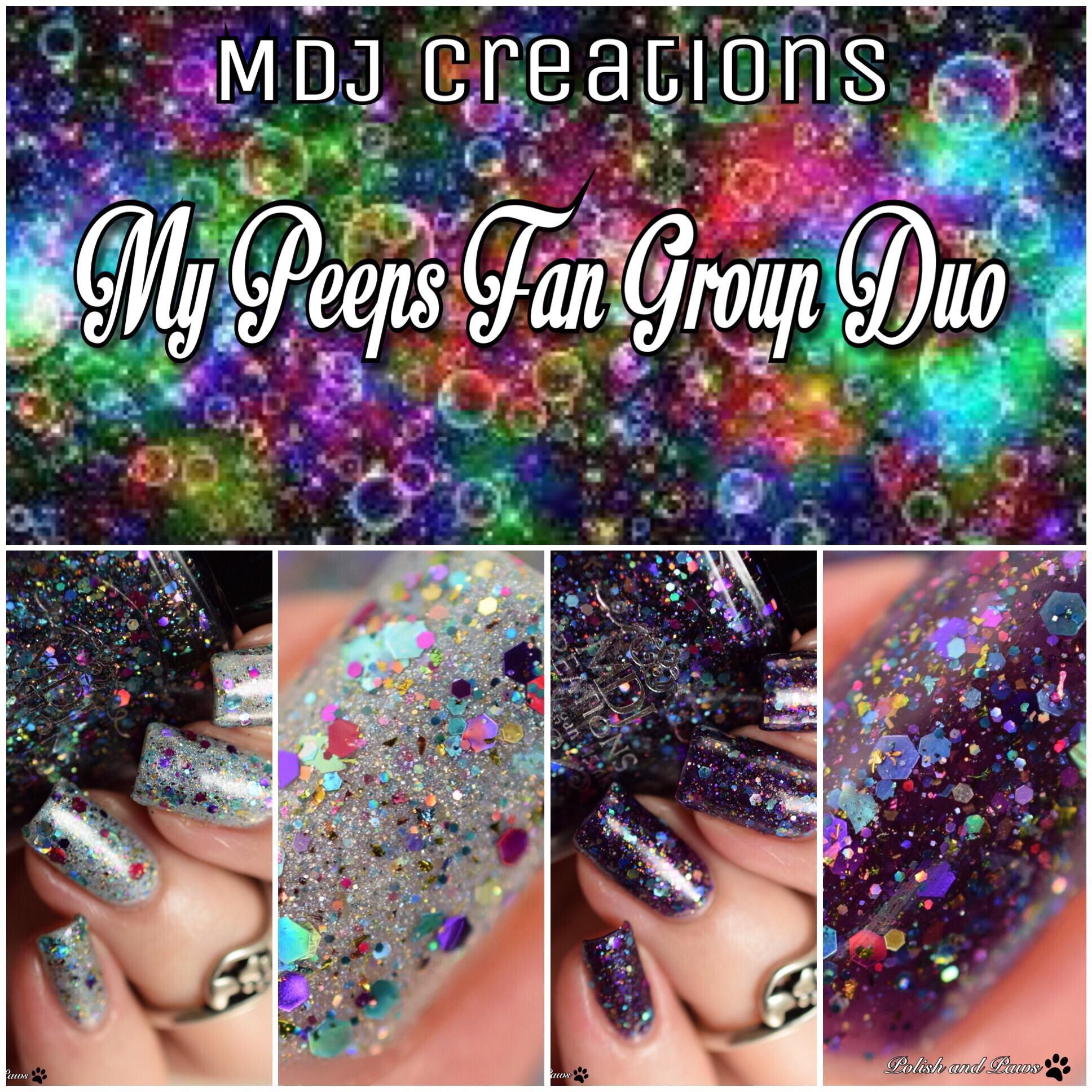 MDJ Creations My Peeps Fan Group Duo