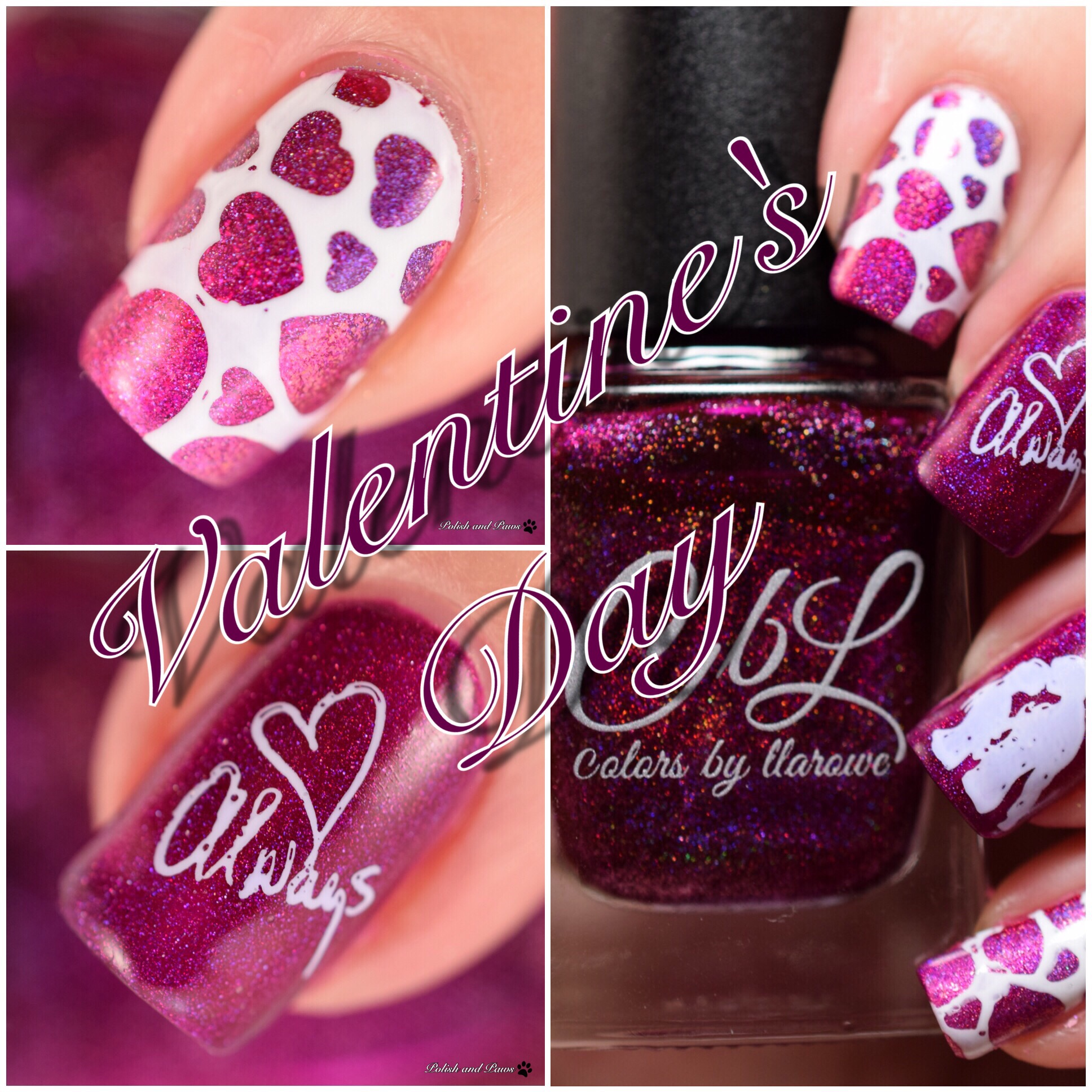 Colors by Llarowe Valentine's Day Nail Art