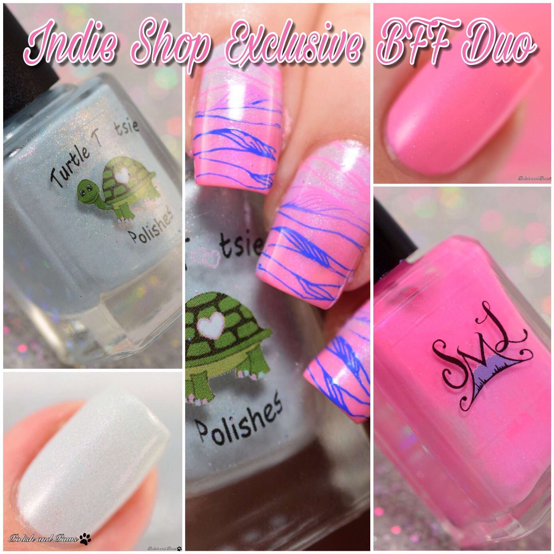 Turtle Tootsie Polishes Smoky Mountain Lacquers Indie Shop Exclusive BFF Duo