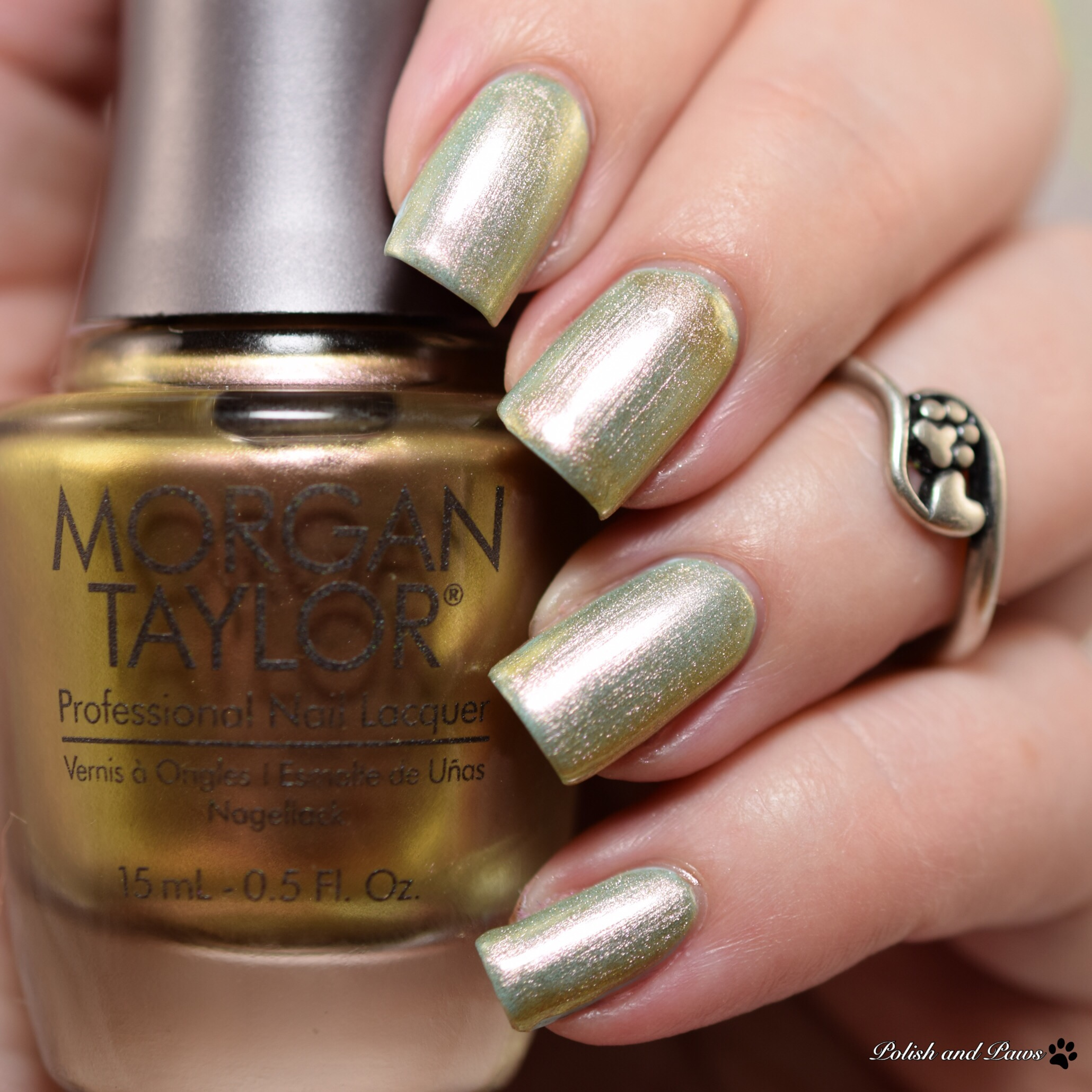 Morgan Taylor Patina over Gaston and On and On