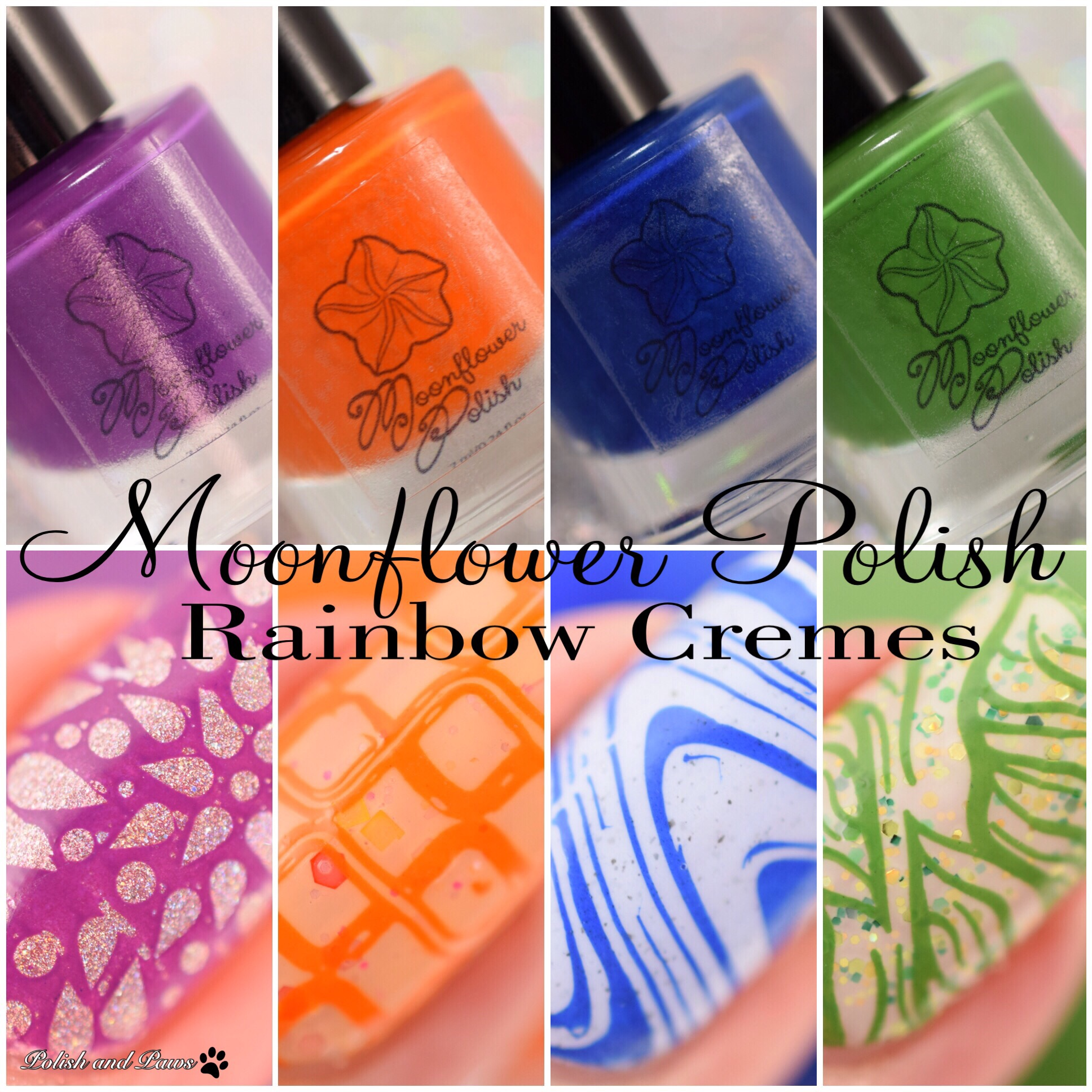 Moonflower Polish Rainbow Cremes