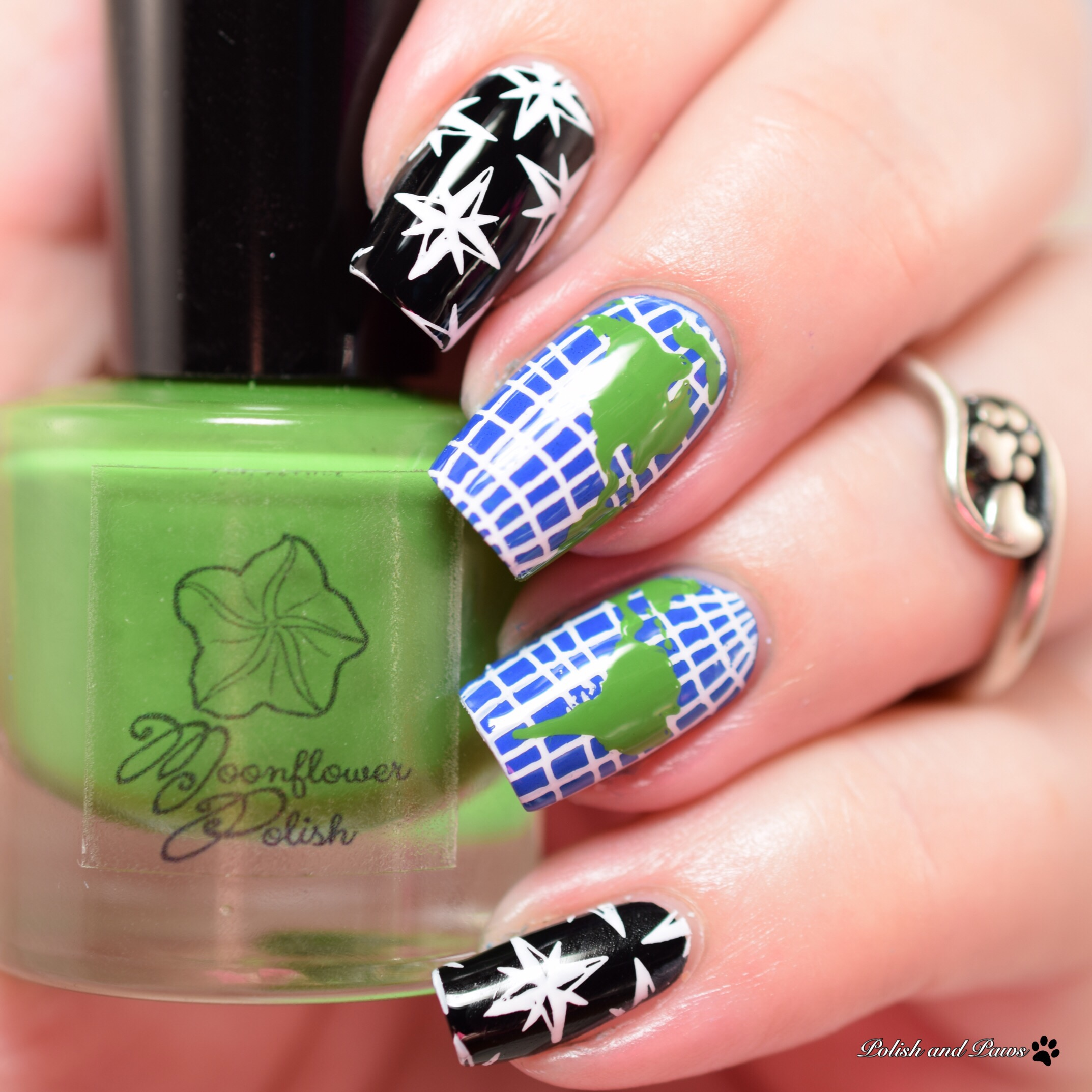 Globe Nail Art ~ Moonflower Stamping Polish